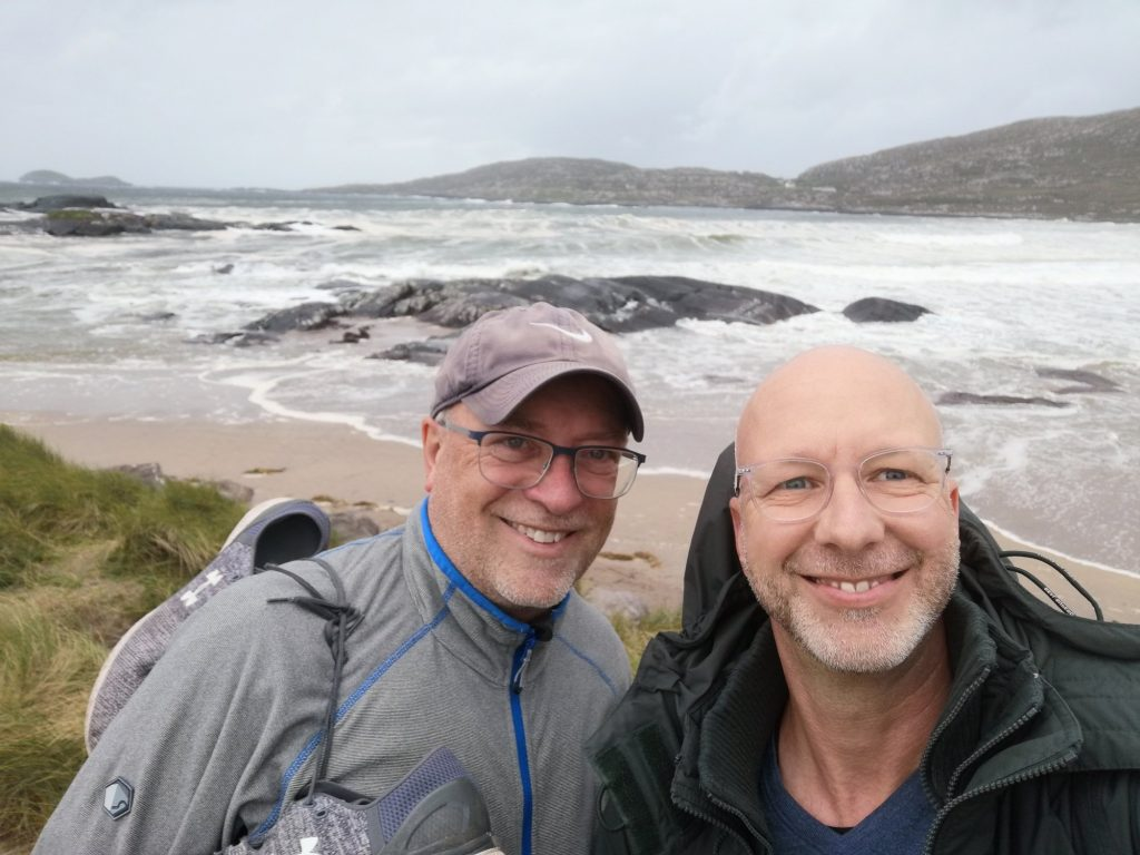 Barry y Jens en Derrynane Beach